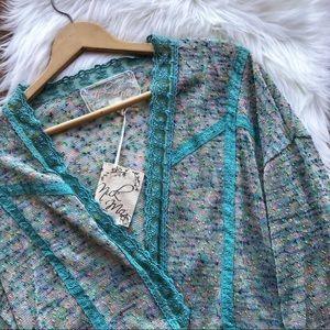 Nick & Mo Anthropologie Anthro Cardigan Sweater S